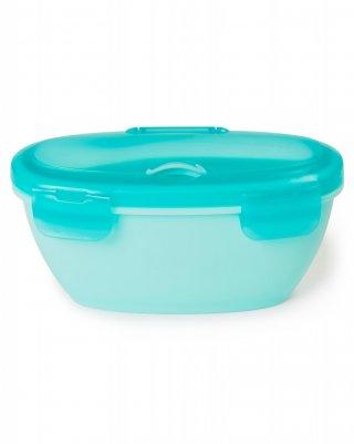 Skip Hop utazó tálka kanállal, baba etetés (kék)
