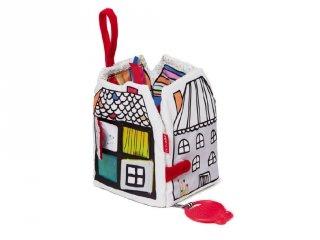 Skip Hop Village textil könyv, felfedező babajáték