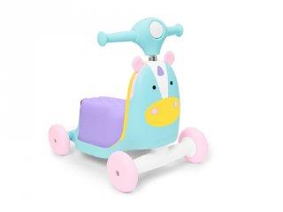 Skip Hop Zoo Unikornis 3 az 1-ben babajármű, mozgásfejlesztő bébijáték (1-3 év)