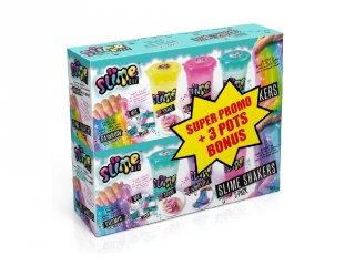 So Slime Shaker 3+3 db-os bónusz csomag, slime készítő kreatív szett