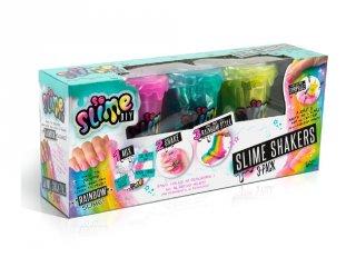 So Slime Shaker 3 db-os, szivárványos kreatív készlet lányoknak