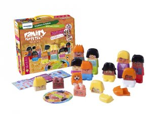 Sokszínű család, Érzelmek és értékek (Miniland, 32360, ismeretterjesztő társasjáték, 3-6 év)