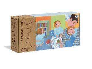 Sorozat puzzle Hétköznapok, 4x8 db-os kirakó (CLEM, 3-6 év)