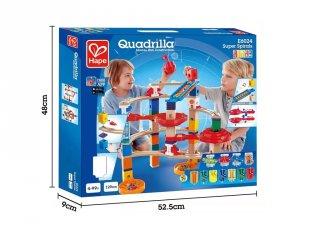 Spirál golyópálya fából, Hape Quadrilla építőjáték (4-99 év)