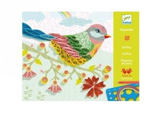 Spiral seasons madaras Djeco quilling papírkép készítő kreatív szett - 8621 (8-14 év)