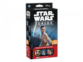 Star Wars Sorsok, Rey kezdőcsomag (Delta Vision, gyűjtögetős, stratégiai kocka- és kártyajáték, 10-99 év)