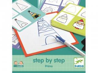 Step by Step, A kezdetek (Djeco, 8323, rajztanító játék, 3-7 év)