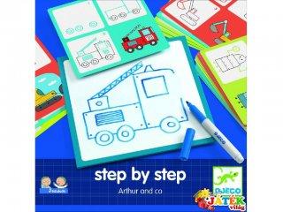 Step by Step, Fiúknak (Djeco, 8321, rajztanító játék, 3-7 év)