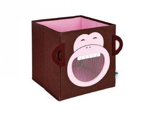 Store !T Kocka tároló, barna majom (gyerekszoba kiegészítő)