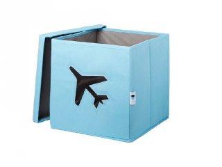 Store !T Kocka tároló, kék repülő (gyerekszoba kiegészítő)