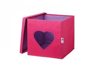 Store !T Kocka tároló, pink szív (gyerekszoba kiegészítő)