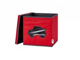 Store !T Kocka tároló, piros autó (gyerekszoba kiegészítő)