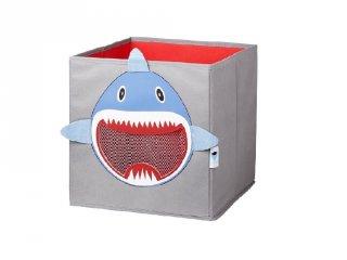 Store !T Kocka tároló, szürke cápa (gyerekszoba kiegészítő)