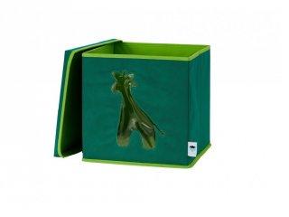 Store !T Kocka tároló, zöld zsiráf (gyerekszoba kiegészítő)