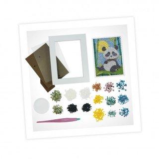 Strasszkép készítés fa képkerettel Panda, Buki kreatív játék (7-12 év)