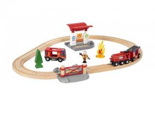 Sürgősségi tűzoltó szett (Brio, 33815, vonatos fajáték, 3-10 év)
