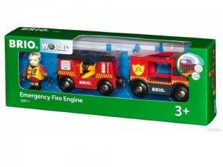 Sürgősségi tűzoltóautó (Brio, 33811, vonatos fajáték, 3-10 év)