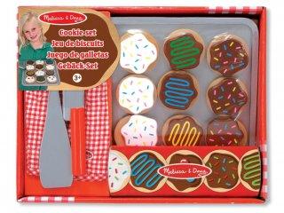 Sütemény készítő fajáték (melissa&doug, Wooden slice and bake cookie set, szerepjáték kiegészítő, 2-8 év)