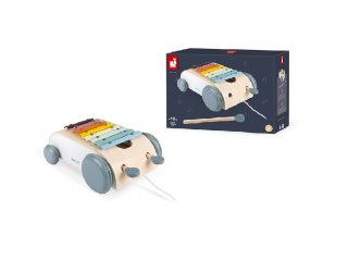 Sweet cocoon húzható xylofon, Janod fa készségfejlesztő játék (4406, 1-5 év)