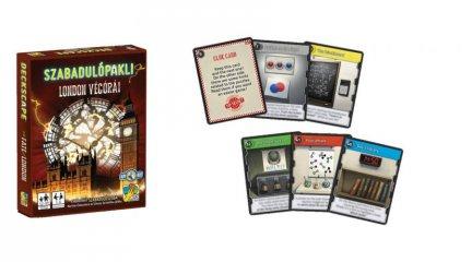 Szabadulópakli, London végórái, kooperációs kártyajáték (12-99 év)