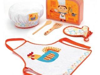 Szakács készlet (Djeco, 6558, szerepjáték gyerekeknek, 2-7 év)