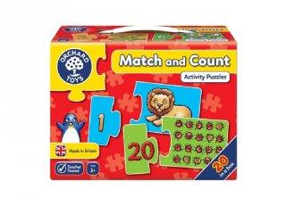 Számlálj és párosíts puzzle (Orchard, match and count, számolást segítő puzzle, 3-6 év)