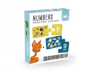 Számok, Montessori párosító puzzle (2-4 év)