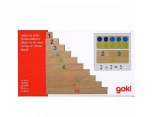 Számoló farudak pöttyökkel és számokkal (Goki, logikai fajáték, 4-8 év)