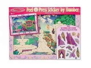 Számos matricás képkészítő, hercegnős kreatív készlet (MD, 4009, 5-8 év)
