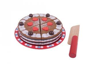 Szeletelhető csokoládétorta (Bigjigs, konyhai fajáték, 3-7 év)