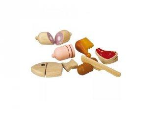 Szeletelhető ételek: húsok, szerepjáték fából (3457, 3-6 év)