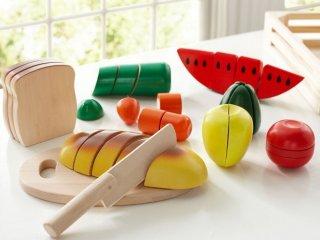 Szeletelhető ételek: kenyér, zöldség és gyümölcs (Melissa&doug, tépőzáras fajáték, 3-7 év)