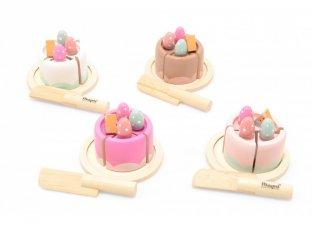 Szeletelhető mini sütemény, fa szerepjáték (többféle, 3-7 év)
