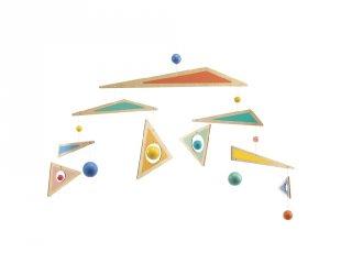 Szélmobil, Háromszögek (Djeco, 4363, fa gyerekszoba kiegészítő)