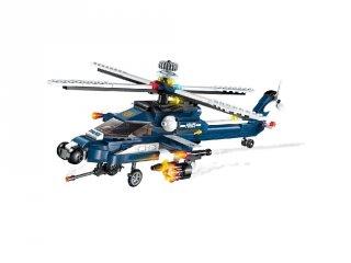 Szélvihar rendőrségi helikopter, 8 az 1-ben Lego kompatibilis építőjáték készlet (QMAN, 1801, 6-12 év)