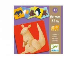 Színes állatok, Djeco 32 db-os memóriajáték - 8110 (3-5 év)