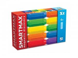 Színes rövid rúd készlet, 6 db (Smartmax, mágneses építőjáték, 3-7 év)
