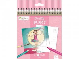 Színezhető képeslap, Táncosok (AM, 24 db-os kifestő, 5-10 év)