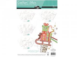 Színezhető matricák, Karácsony A4 (Avenue Mandarine, kreatív játék, 3-10 év)