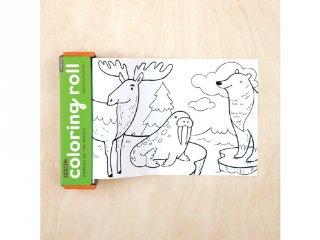 Színező tekercs 4 db színes ceruzával, A világ állatai (Mudpuppy, 3-7 év)