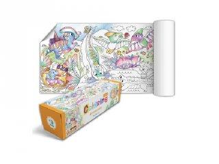 Színező tekercs Dínók, kreatív játék (DO, 3-6 év)