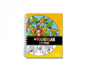 Színezőfüzet, mandalakészítés 30 oldalas (Sentsphere, kreatív szett, 5-12 év)