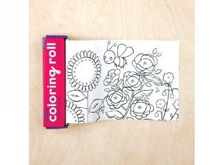 Színezőtekercs 4 db színes ceruzával, Virágoskert (Mudpuppy, 3-7 év)