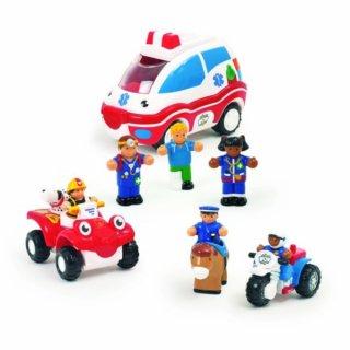 Szirénázó járművek emberekkel (Wow Toys, 18 hó-5 év)