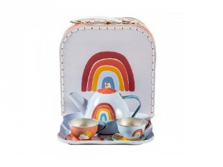 Szivárvány teáskészlet bőröndben 7 részes, Little Dutch szerepjáték (5390, 3-7 év)