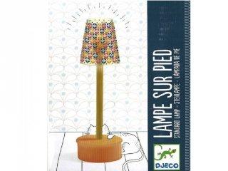 Szobai világítás, Állólámpa (Djeco, 7831, babaház kiegészítő, 2-10 év)