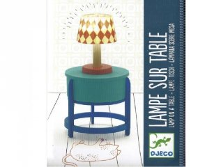 Szobai világítás, Lámpa az asztalon (Djeco, 7830, babaház kiegészítő, 2-10 év)