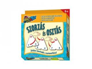 Szorzás-osztás kártya (matektanulást segítő logikai játék, 7-12 év)