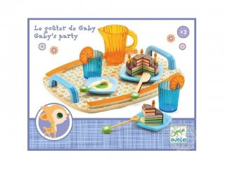 Szülinapi parti készlet, szeletelhető tortával (Djeco, 6518, szerepjáték kellék, 3-9 év)