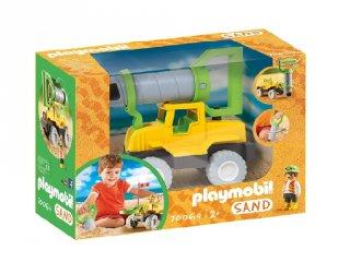 Talajfúró jármű, Playmobil Sand szerepjáték (70064, 2-6 év)